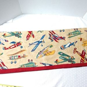 Boys Room Curtain Valance ONLY Vintage Airplanes